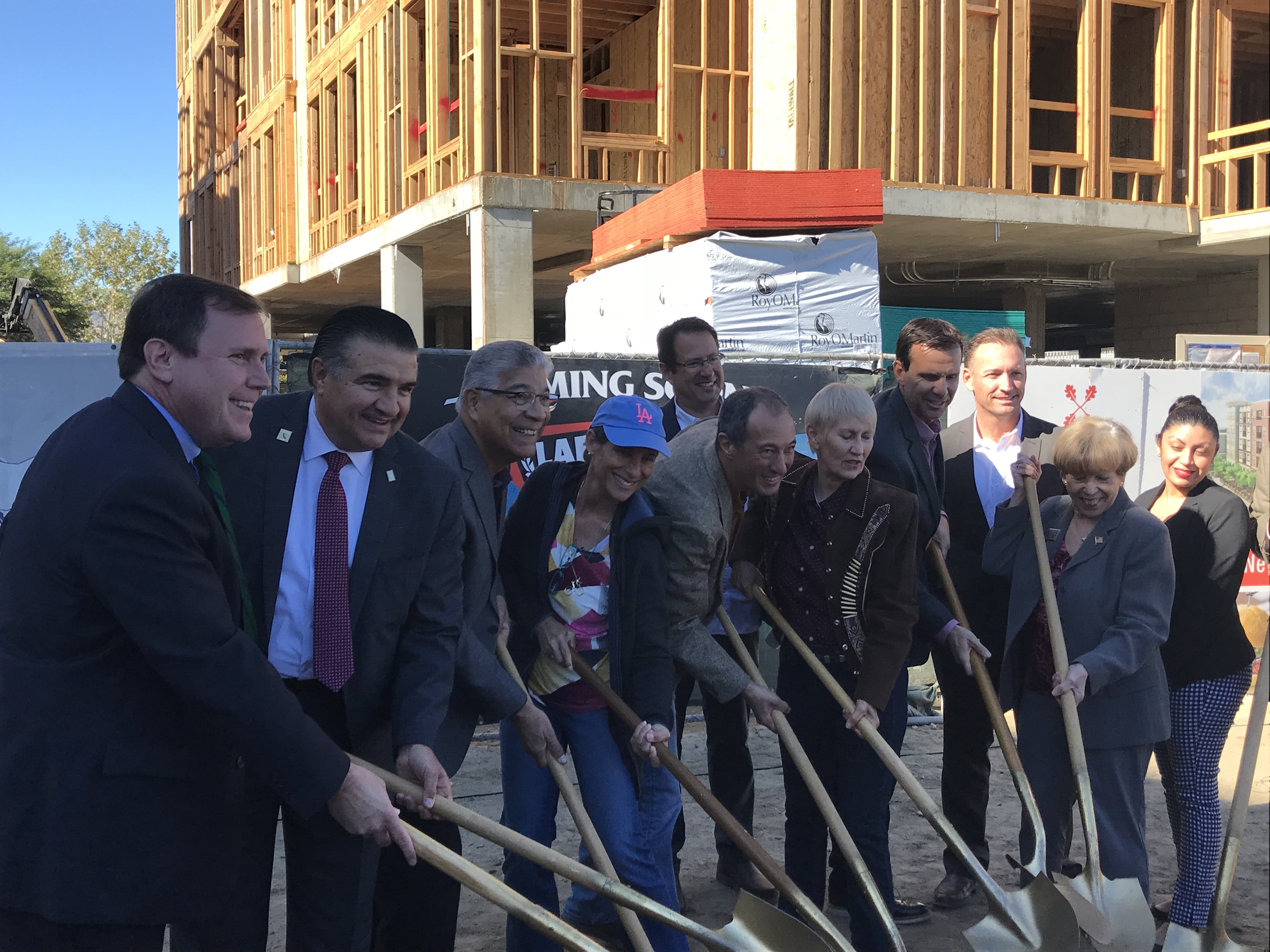 Groundbreaking for a new Laemmle Theater in Newhall