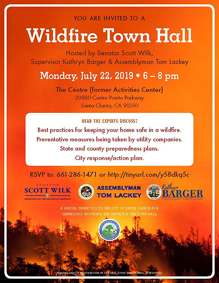 Wilk announces upcoming Wildfire Town Hall