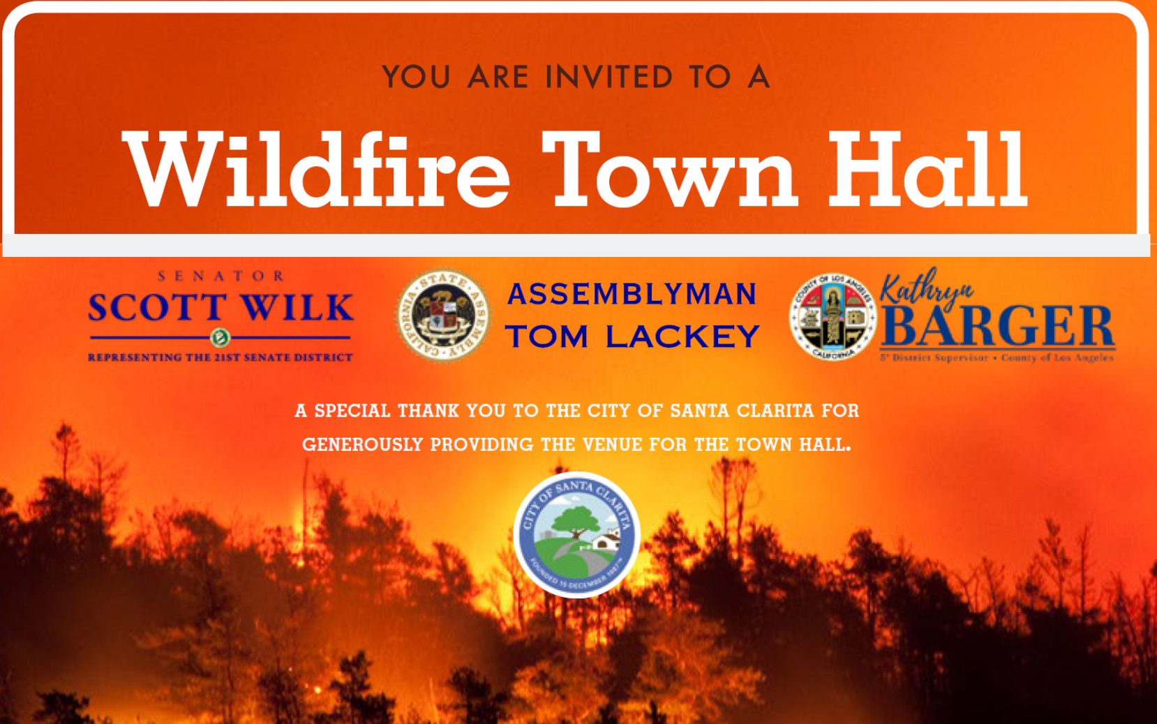 You are invited to a Wildfire Town Hall