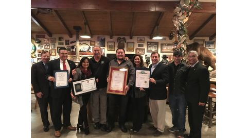 Senator Scott Wilk recognizes Rancho Deluxe Movie Ranch as Small Business of the Month