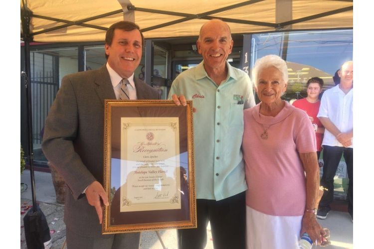 Small Business of the Month, Antelope Valley Florist with owner Chris Spicher and his mother Gloria Spicher