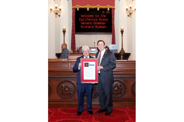 Senator Wilk honors SCV Signal, Publisher Richard Budman on the 100th Anniversary of the Signal