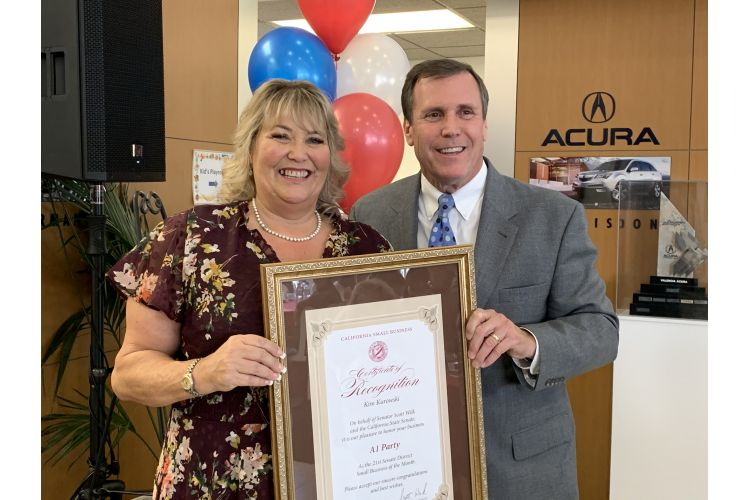 Wilk Honors A-1 Party for Small Business of the Month