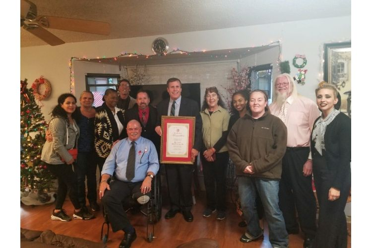 Wilk honors High Desert Homeless Services with his Non-Profit Appreciation Award