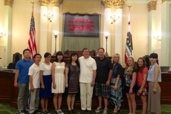Meeting with students from Saugus High School's Chinese Exchange Program