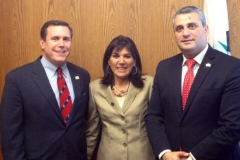 Armenian Consul General with Assemblyman Wilk