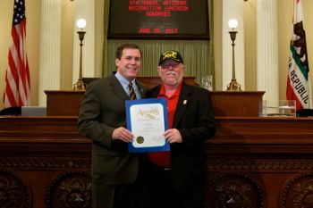 Assemblyman Wilk and Veteran of the Year, R.J. Kelly