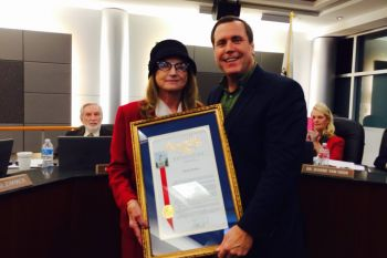 Honoring out-going College of the Canyons Board President Michele Jenkins with an Assembly Resolution
