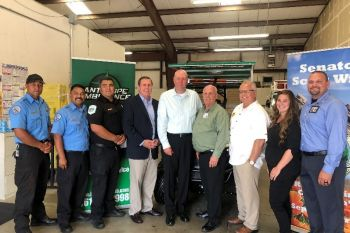 Employees of Antelope Ambulance pictured here with Senator Scott Wilk, owners Doug Cain, Andy Wilson and Assemblyman Tom Lackey