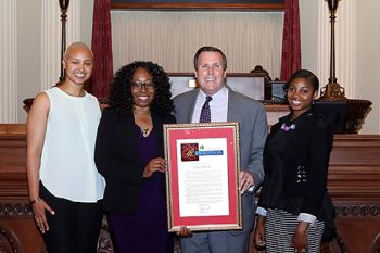 Pictured L-R, Desireé Smith, Kimberly Watson, Senator Scott Wilk and Shameka Beaugard*