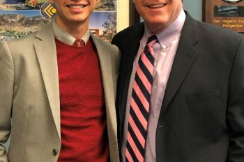 Senator Wilk with his 2020 Senate Fellow, Israel Sotelo